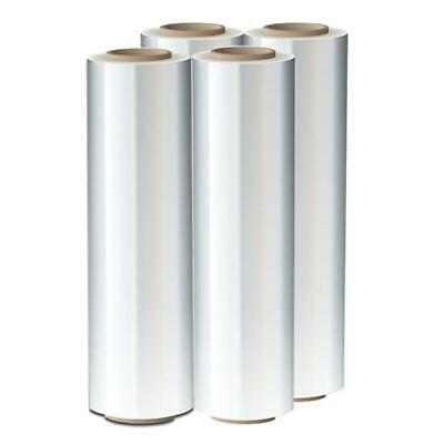 "4 Rolls 18"" x 1500FT 80GA Pallet Wrap Stretch Film Shrink Hand Wrap"