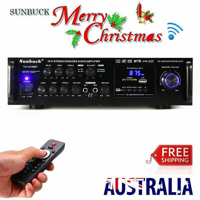 New 2000W 110V Pro Bluetooth HiFi Power Amplifier Stereo Surround Amp Karaoke FM
