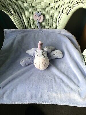 Disney Asda George Large Purple Eeyore Comforter Blankie Soft Toy Soother Doudou