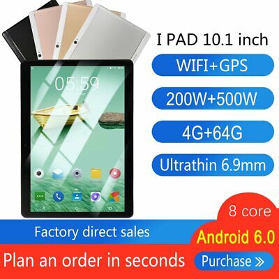 10.1inch Tablet PC 4G+64G Android6.0 Octa-Core Dual SIM &Camera Wifi Phablet lot