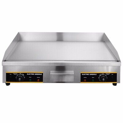 Stainless Steel 73cm Commercial Electric Griddle Hotplate Flat BBQ Grill UK Plug