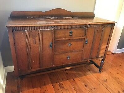 Antique Solid Timber Sideboard By Beard Watson & Co