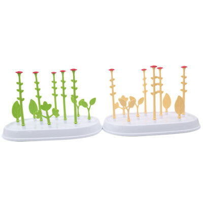 Portable Flower-shaped Vertical Drying Rack Tray Baby Bottle Accessory Holder Z