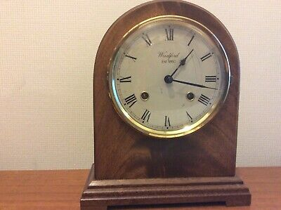 WOODFORD MANTEL CHIMING CLOCK BY FRANZ HERMLE IN G.W.O. See Description.