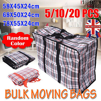 JUMBO LAUNDRY BAGS Zipped Reusable Large Strong Shopping Storage Bag Moving XL U