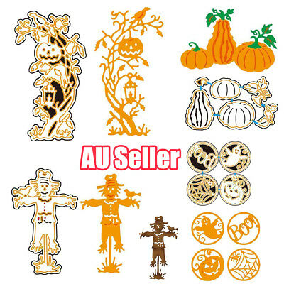 Halloween Witch Pumpkin For DIY Greeting Card Metal Embossing Cutting Dies E&