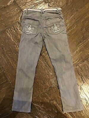 Marks And Spencer's Grey Girls Jeans Age 8, Height 127 Cm VGC