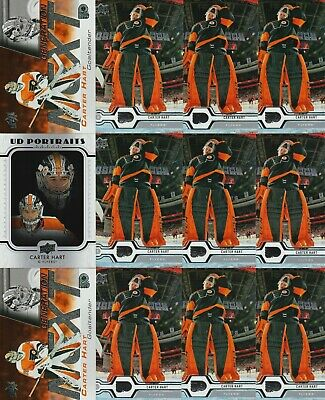 Carter Hart 12 Card Lot 19-20 Upper Deck Generation Next Ud Portraits 2019-20