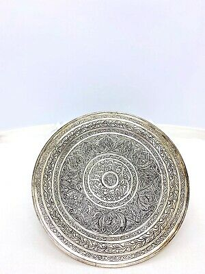 Antique 6 Inch Etched Silver Plate / Dish