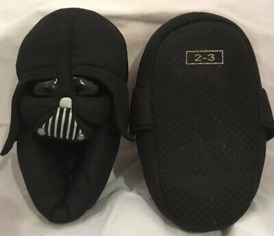 Star Wars Darth Vader Soft Plush Slippers House Shoes Kids L 2-3