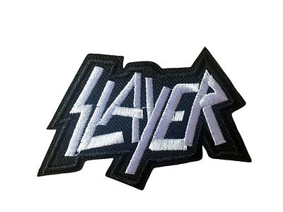 SLAYER Metal Rock Band Iron on/Sew on Embroidered Patch/Badge T-shirt Patch