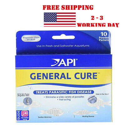 API General Cure Powder 10 Count For Freshwater and Saltwater FR