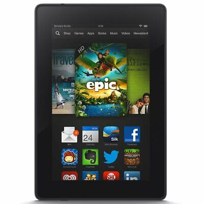 "Amazon Kindle Fire 7 HD 3rd Generation 7"" 8GB Tablet Wi-Fi P48WVB4 Black"