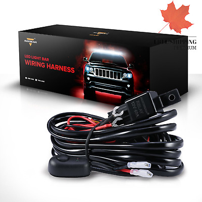 LED Light Bar Wiring Harness Kit with Fuse Relay ON Off Switch for LED Off-Ro...