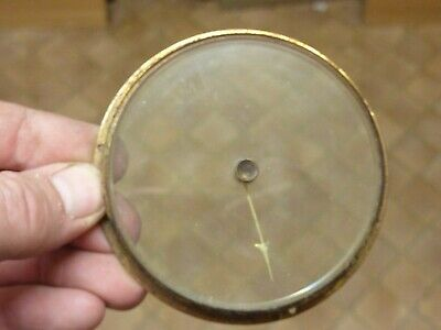 "Old Aneroid Barometer 3 1/2""  Bezel-  Glass-Hand-Set Knob  (G3) Free Post"