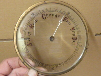 "Good Old Aneroid Barometer 5 5/8"" Bezel & Bevelled Glass - Hand-Set Knob (Rp1)"