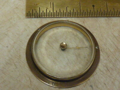 "Good Old Aneroid Barometer 2 1/2"" Bezel -- Bevelled Glass - Hand-Set Knob (F1)"