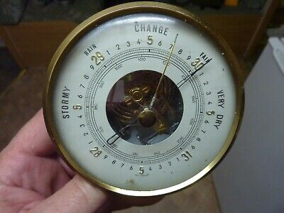 Nice Old Barometer Insert Movement- Bezel Etc - Working Fine (Md) Free Uk Post