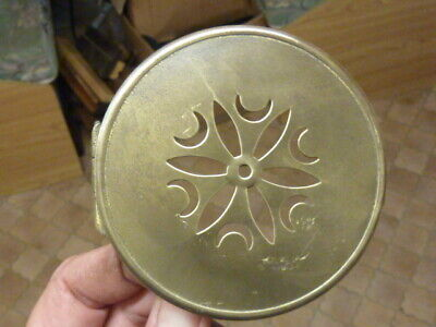 Small Antique French Clock  Pierced Brass Back Door -- Free Uk Post(V2)
