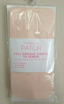 BNWT Pumpkin Patch Brand Girls 8 to 10 Yrs Opaque Pink Footed Style Tights