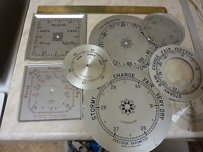 8 Used Aneroid Barometer Small Dials