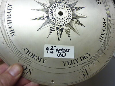 "GOOD 19th CENTURY WHEEL BAROMETER 9 3/4"" ENGRAVED - SILVERED DIAL-FREE POST (A1)"
