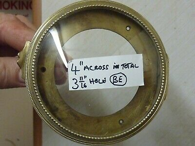 Antique French Clock Ornate Bezel & Convex Glass--(Be)  Free Uk Post