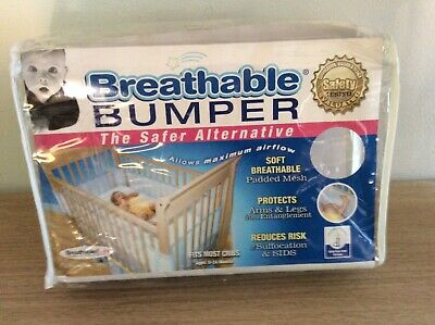 Breatherable Bumper by BreathableBaby Mesh Crib Liner Pre- Owned Great Condition