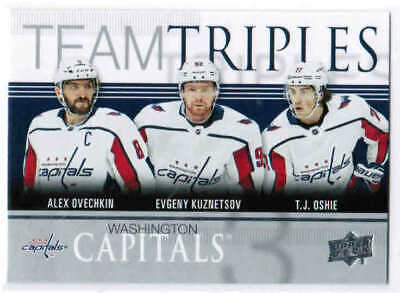 19/20 2019 UD SERIES 1 HOCKEY TEAM TRIPLES INSERT CARDS TT-X U-Pick From List