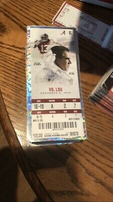2019 Alabama Crimson Tide Vs LSU TIGERS NCAA Ticket Stub Football 11/9