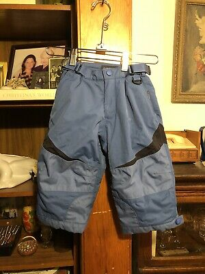 Lands End Toddler Boys Snow Pants Blue Size 2T Waist 16""