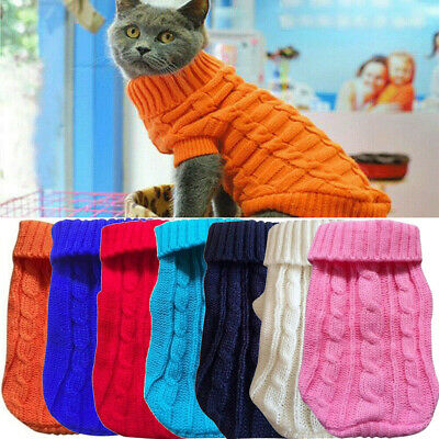 Winter Small Dogs Clothes Puppy Pet Cat Knitted Sweater Jacket Coat Costume New