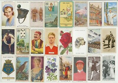 104 Cigarette Cards c.1910-1930's (VG-VG+) (Various Issuers & Subjects) All Diff