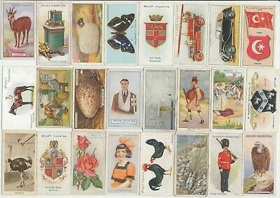 154 Cigarette Cards c.1910-1930's (GOOD-FAIR) (Var. Issuers & Subjects) All Diff