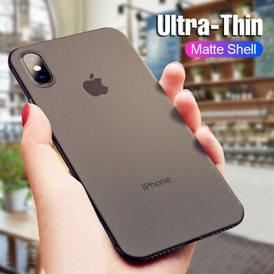 Ultra-thin Matte Clear Hard Slim Cover Case For iPhone X XR 8 7 6 11 Pro XS Max