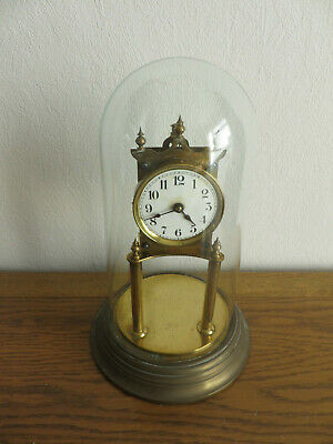 400 Day Anniversary Clock Spares Repairs with Glass Dome Brass Base