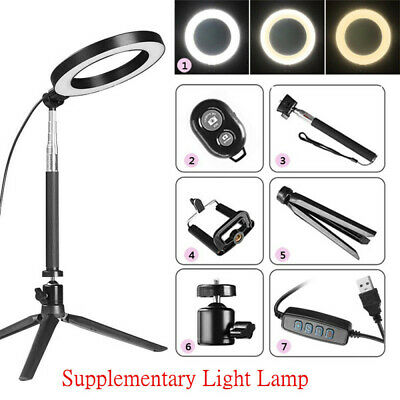 """8"""" LED Ring Light with Stand Dimmable Lighting For Makeup Youtube Live Beauty"""