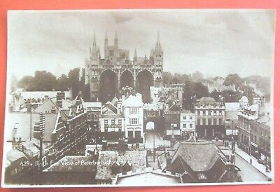 RP Postcard c.1910 BIRDS EYE VIEW OF PETERBOROUGH NORTHAMPTONSHIRE