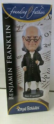 New Royal Bobbles Benjamin  Franklin Collectible Bobble Head Nodder  Series