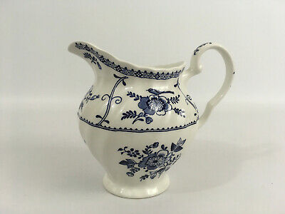Vintage Small Johnson Brothers Blue And White Indies Milk Jug Made In England