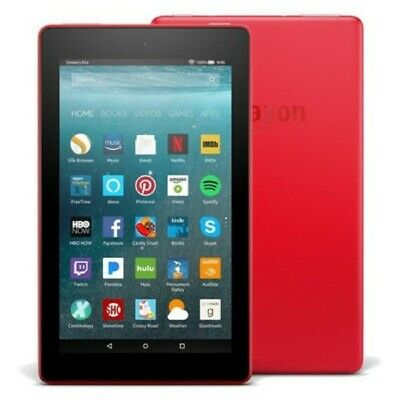 """Amazon Kindle Fire 7 (5th Generation) 1.3Ghz Tablet SV98LN 16GB Wi-Fi 7"""" Red"""