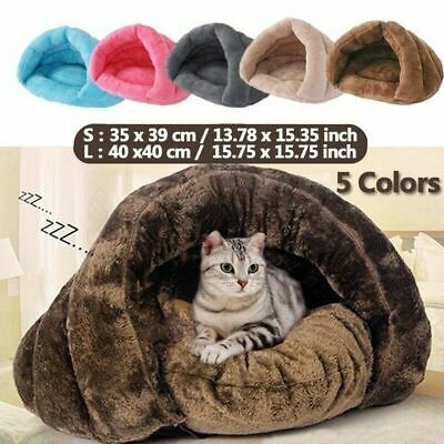 Puppy Pet Dog Cat Kitten Fleece Soft Warm Cave Bed Sleeping Bag Nest Mat Kennel