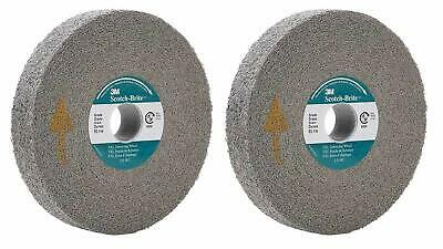 "3M Abrasive 048011-05132 6"" SCOTCH-BRITE EXL DEBURRING WHEELS GRAY (Set of 2)"