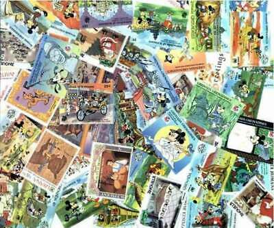 Disney Stamp Collection - 50 Different Stamps
