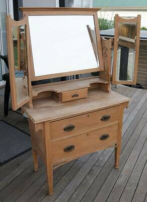 Antique mirrored dresser from England 910 wide x 1510 high. With 2 drawers.