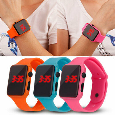 Kids Electronic Digital Waterproof LED Display Wrist Watch For Child Boy Girl