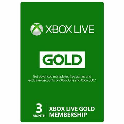 Xbox Live Gold 3 Months Membership 90 Days - Xbox One/360 Digital Code [GLOBAL]