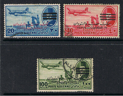 Egypt 1952 Airmail Stamps Overprinted