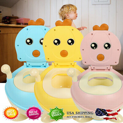 2in1 Potty Training Toilet Seat Baby Portable Toddler Chair Kid Girl Boy Trainer