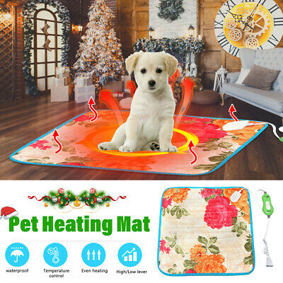 Pet Electric Heating Mat Cushion Heated Pad Bed Puppy Dog Cat Warmer Waterproof